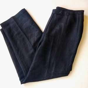 Emma James Black Linen Pant 16w